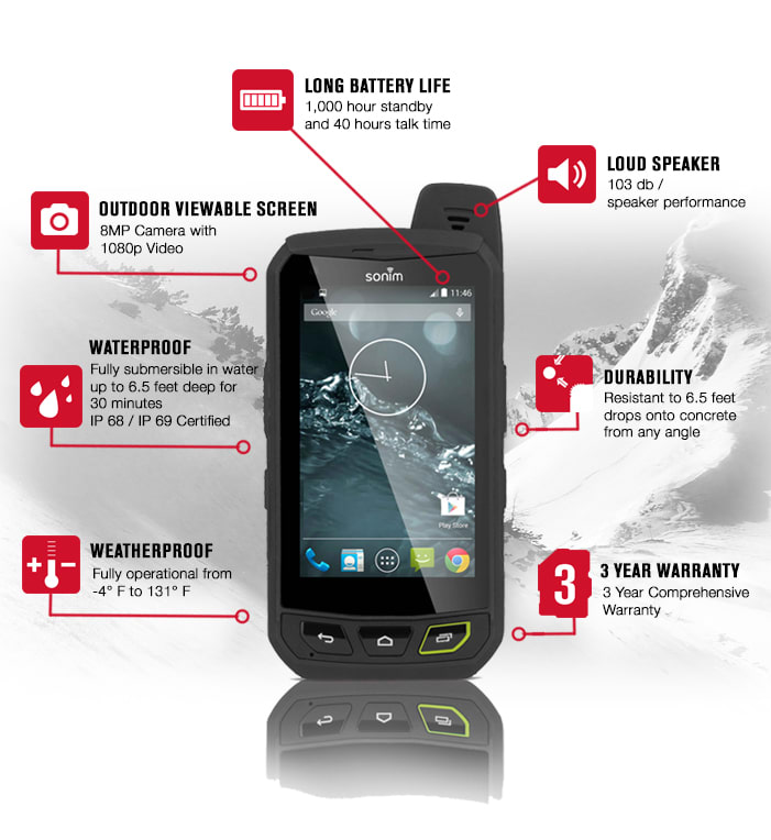 The Sonim XP7 Extreme Is An UNLOCKED Virtually Indestructible Android 4.4  KitKat LTE Ultra Rugged Smartphone. It Was Built For Extreme Use And To  Handle ...