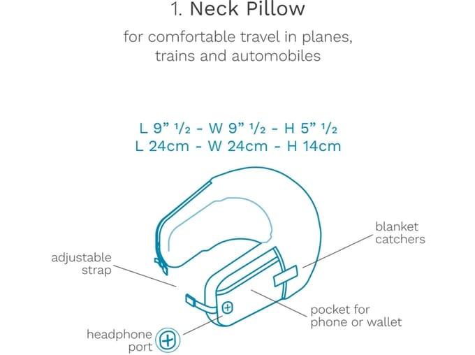 размеры подушки для шейного отдела