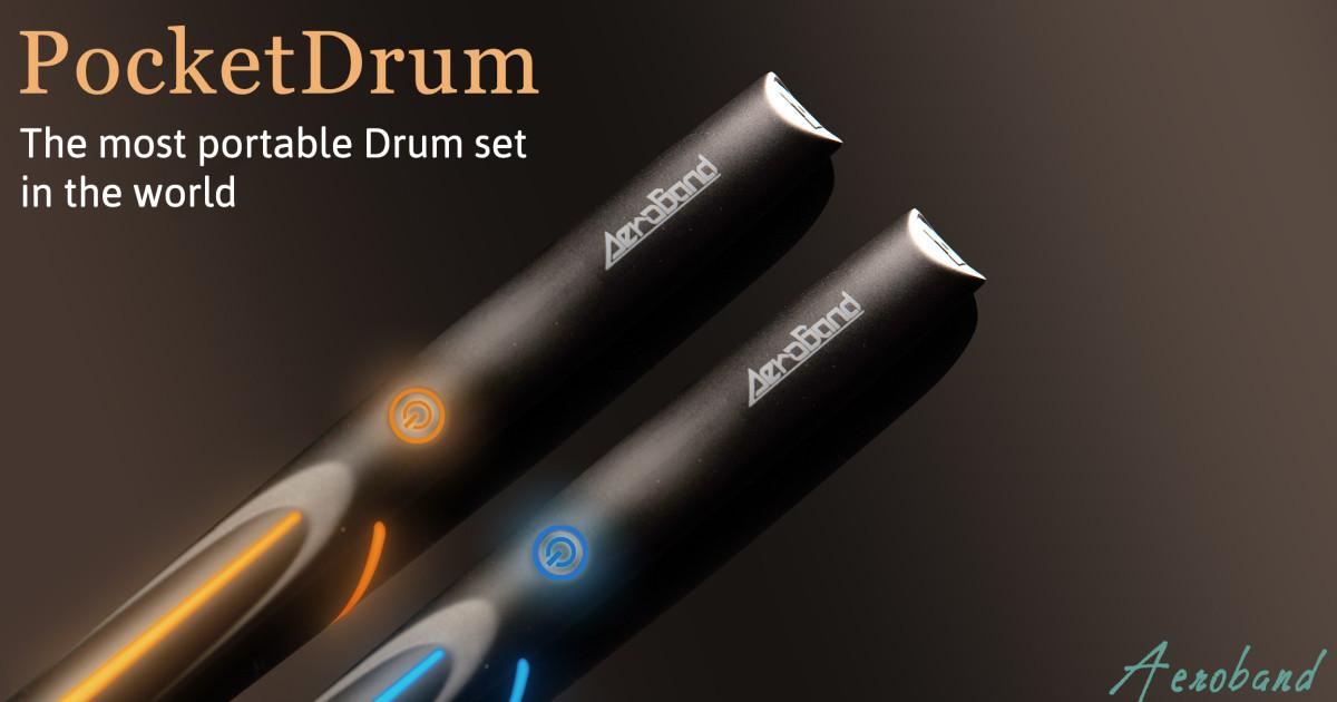 振るだけで鳴るだけでなく、振る空間が違えば音が変わり、叩いた振動まで伝わるスマート・ドラムスティック「PocketDrum」