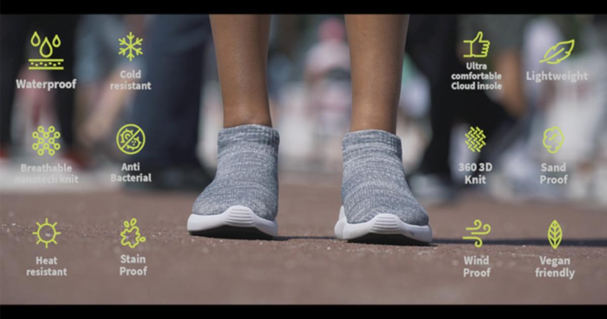 レインブーツの様にもサンダルの様にも、暑くても寒くても1年中快適に履く事のできるオールシーズンシューズ「V-Tex」
