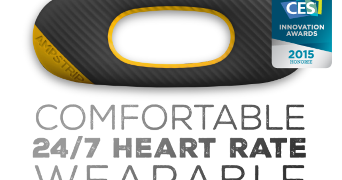 AmpStrip - Comfortable 24-7 heart rate wearable
