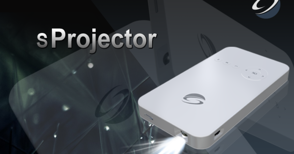 The first powerful mini tv projector indiegogo for Small powerful projector