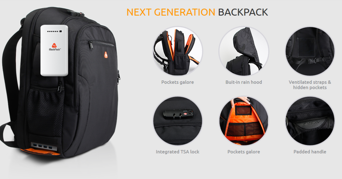 iBackPack - WiFi, Ultra-Thin & Powerful Batteries