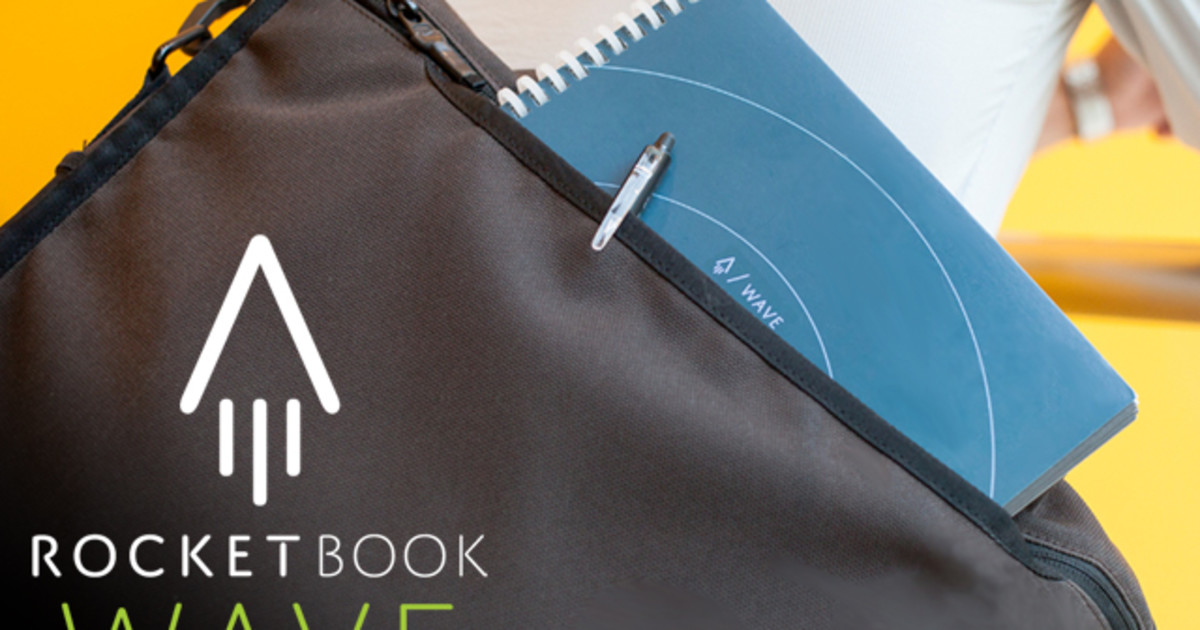 Rocketbook Wave: Cloud-Ready Microwavable Notebook
