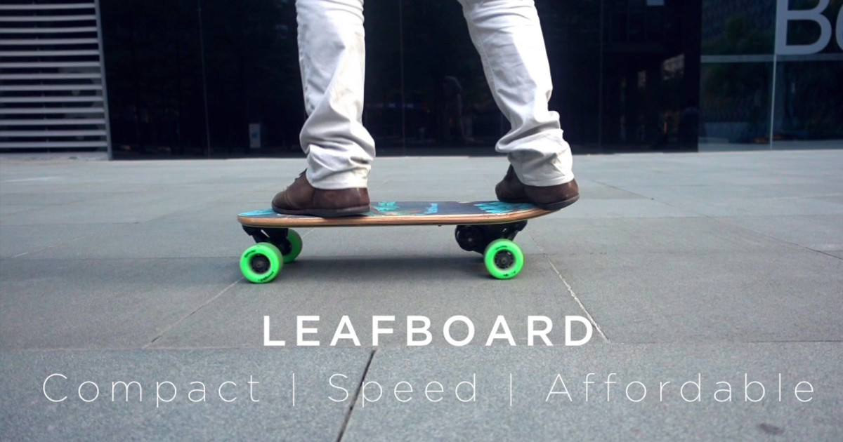 Leafboard Super Portable Electric Skateboard Indiegogo