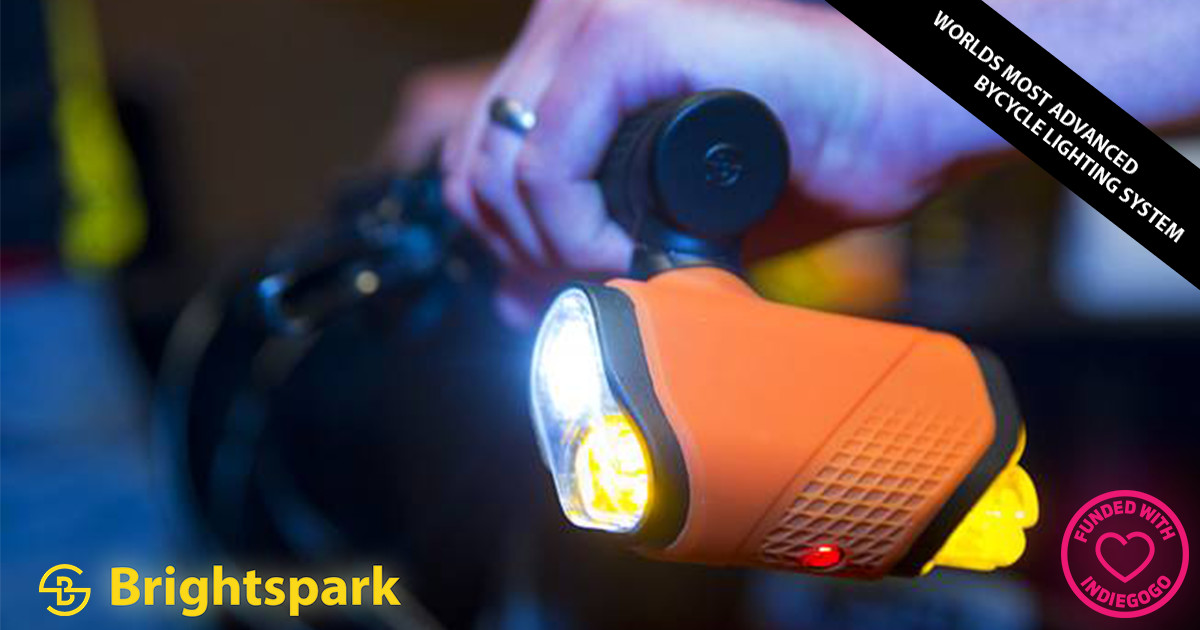 Brightspark: Ultimate Lighting Safety for Cyclists