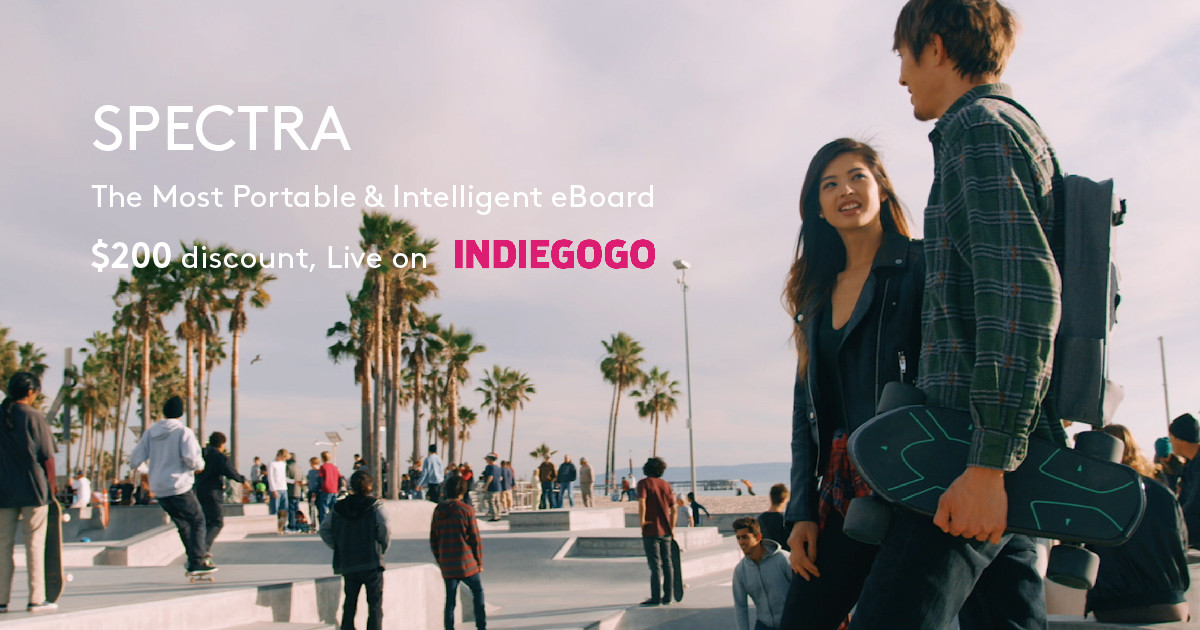 SPECTRA: the Portable & Smart Electric Skateboard