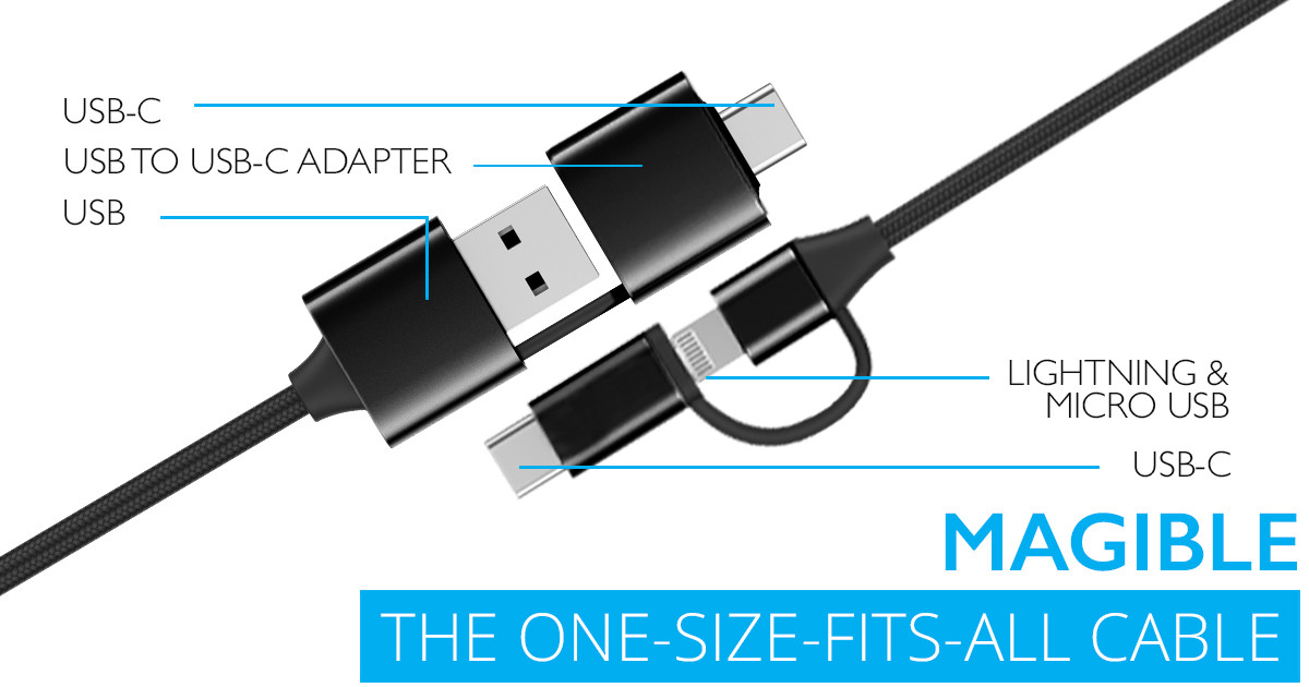 How Much Does It Cost >> MAGIBLE, THE ONE-SIZE-FITS-ALL CABLE | Indiegogo