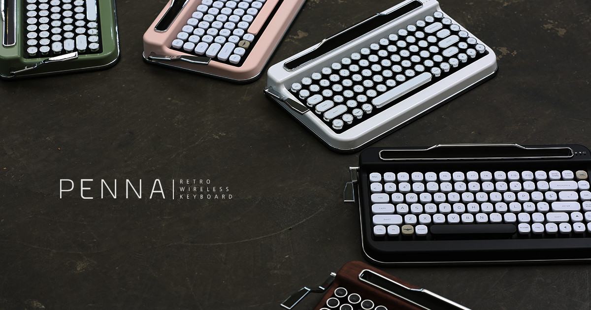 Penna - Typewriter style Retro Bluetooth Keyboard