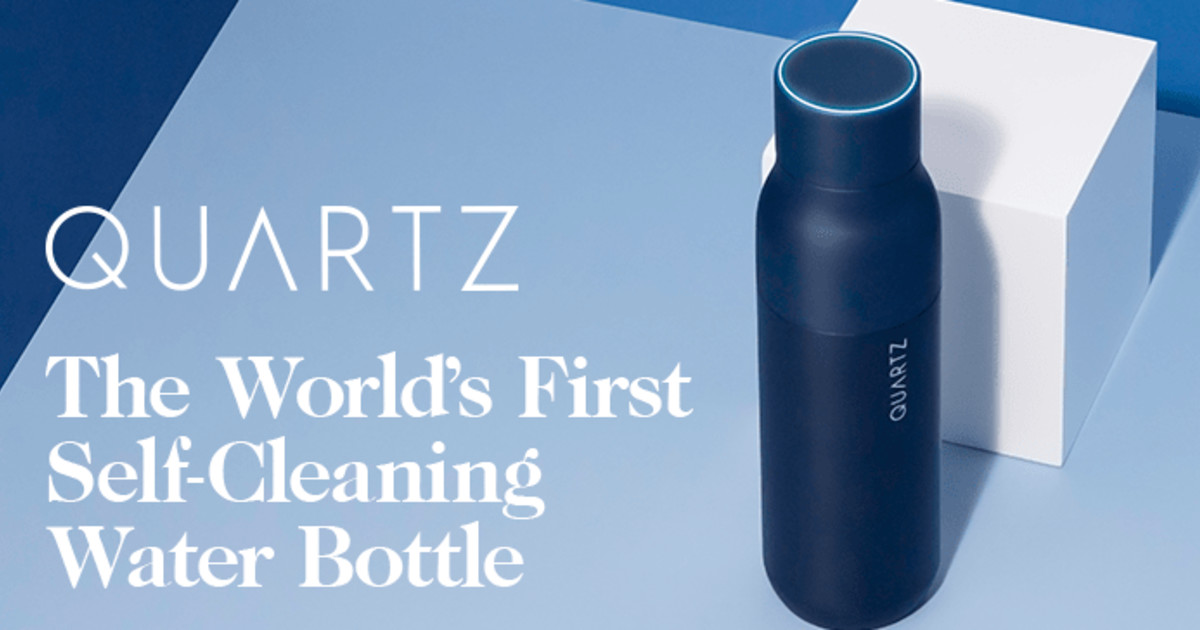 QUARTZ Bottle - World's First Self-Cleaning Bottle | Indiegogo