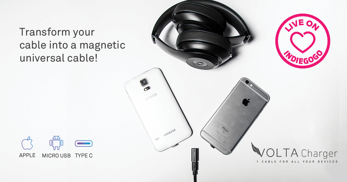 VOLTA Magnetic  Adapter - Charge ANY Device!