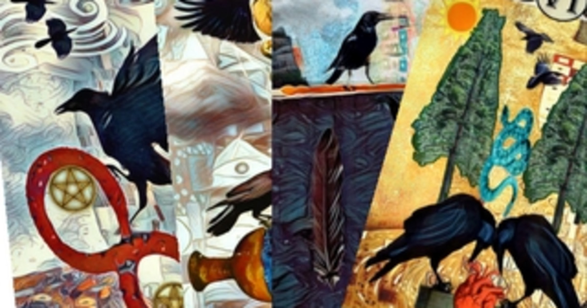 Fly Through The Veil With The Crow Tarot!