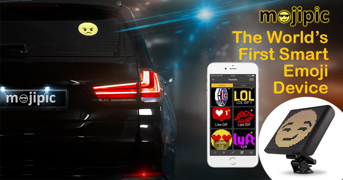 Mojipic First Voice Controlled Emoji Car Display Indiegogo