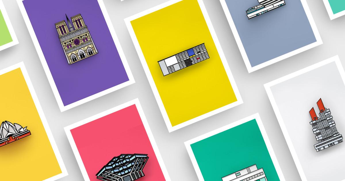 DROP-A-PIN- Architectural Enamel Pin Collection | Indiegogo