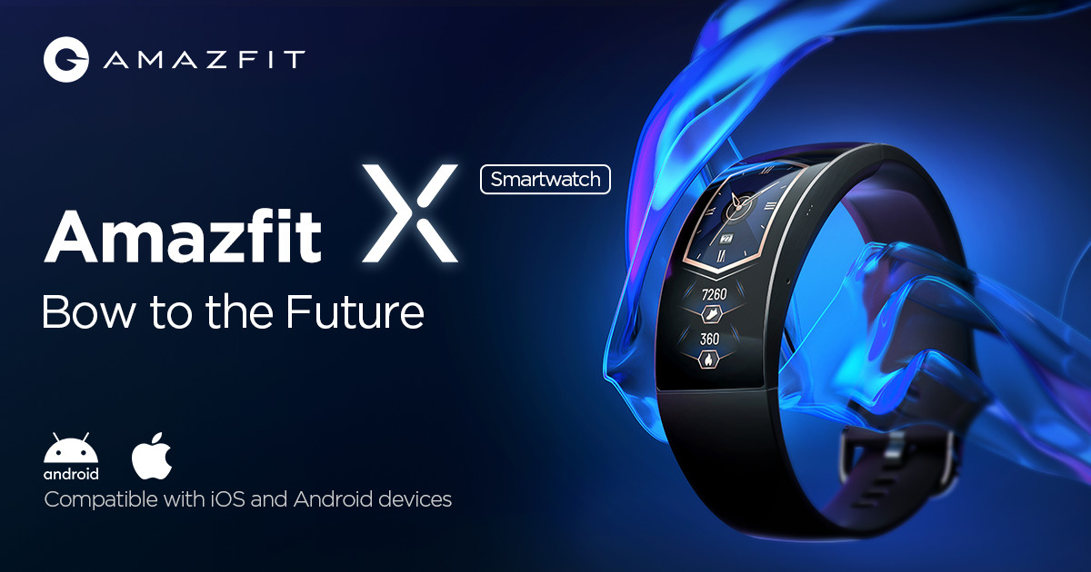 Amazfit X Curved Smartwatch: Bow to the Future