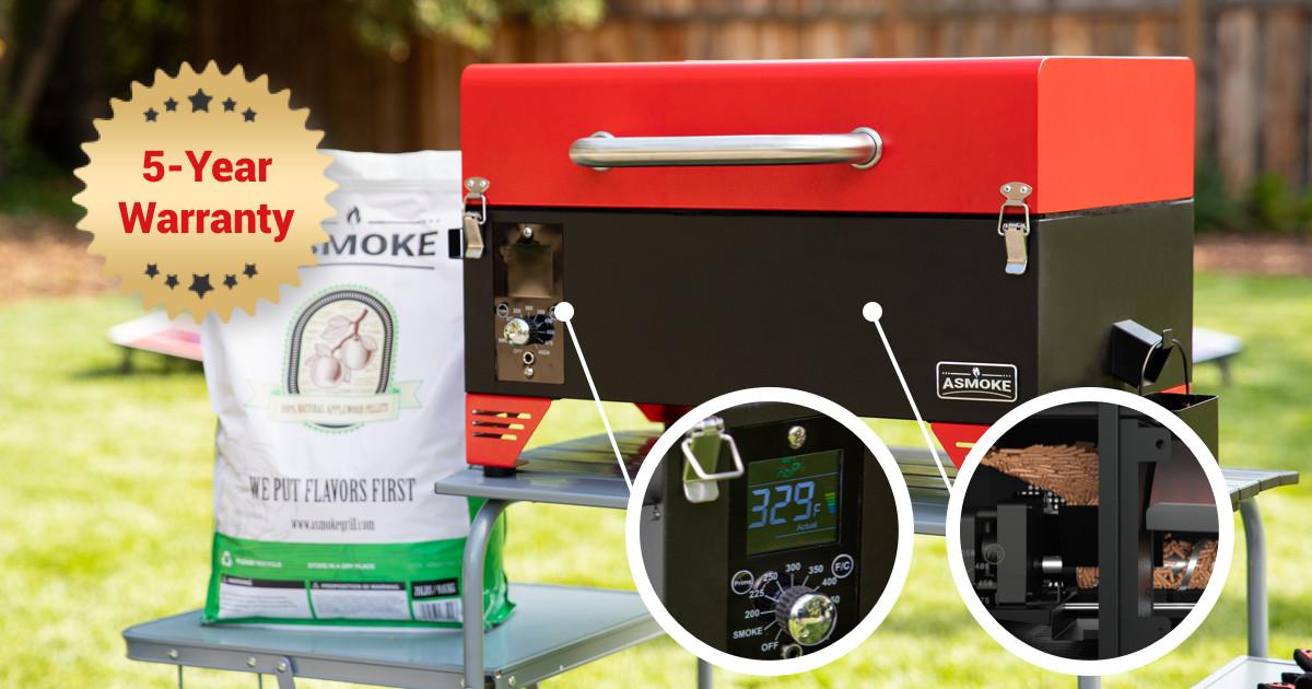 ASMOKE - Portable Applewood Pellet Grill