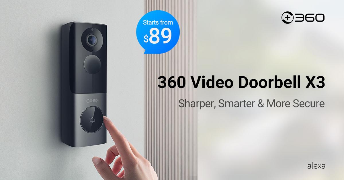 360 Video Doorbell X3: The radar sensor doorbell