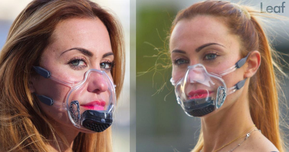 LEAF Mask, World's first FDA, UV-C N99, Clear mask