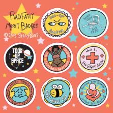 Rad Fatty Merit Badge Sticker Sheets!   Indiegogo