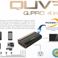 /& Notebook Adapter Combo Charger *NEW* QUVA Q.PRO 4 in 1 USB Hub