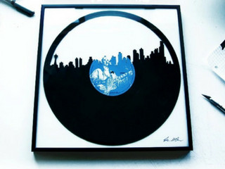 Skylinyl The First Vinyl Art Made From Recycled Records