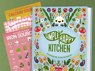 Simple Happy Kitchen Illustrated Plant Based Guide | Indiegogo