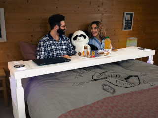 Bedchill Turns Your Bed Into A Second Living Room And Office Is Multi Functional Overbed Table That Allows You To Eat Use Laptop