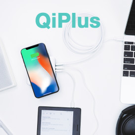QIPLUS: 3-in-1 global wireless charger & powerbank