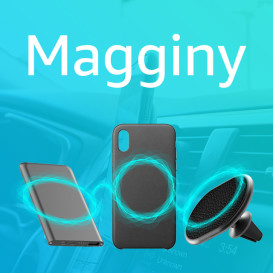 Magginy: The Magnetic Wireless Car Charging Kit