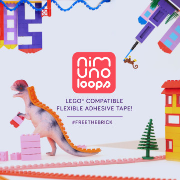LEGO Compatible Adhesive Tape - Nimuno Loops