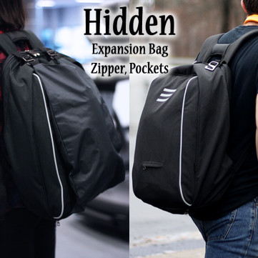 Ninja Backpack with Hidden Zipper and Expansion