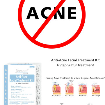 Natural Acne Treatment using Sulfur 4-Step Regimen