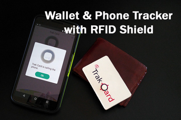 Trak Card Wallet & Phone Tracker with RFID Shield