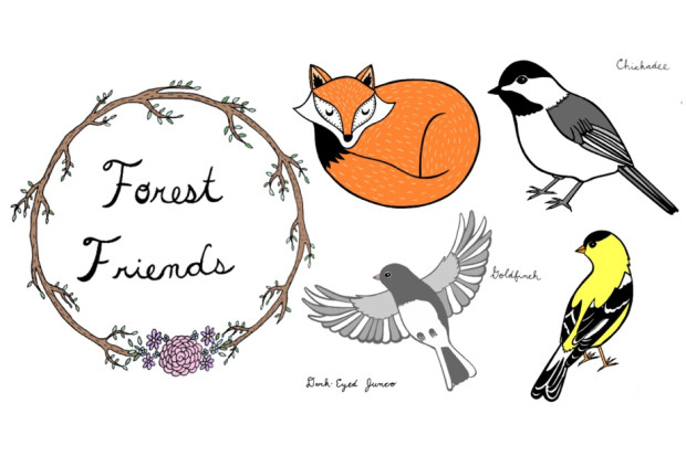 Closed Forest Friends Pins