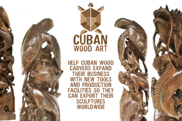 Cuban Guayacan Hand Carved Wood Sculptures