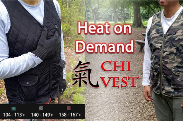 Chi Vest Heat on Demand - Keeps You Warm & Healthy