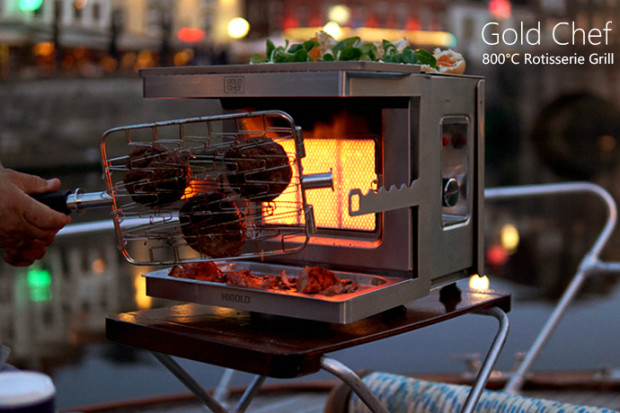 GoldChef:The grilling revolution starts here & now
