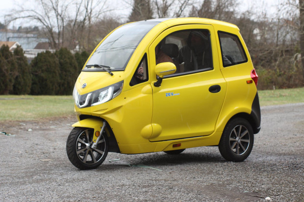 Fully Electric Micro Car ZEV T3-1 Launch Project