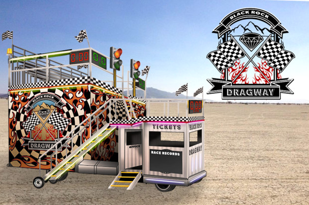 ride amusement Drag strip