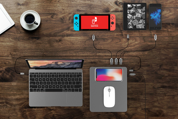 PowerDock: Wireless fast charging dock & powerbank