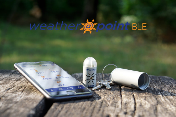 WeatherAtPoint BLE: Keychain sized Weather Station