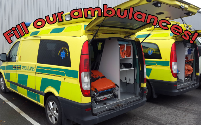Help us fill our Ambulances