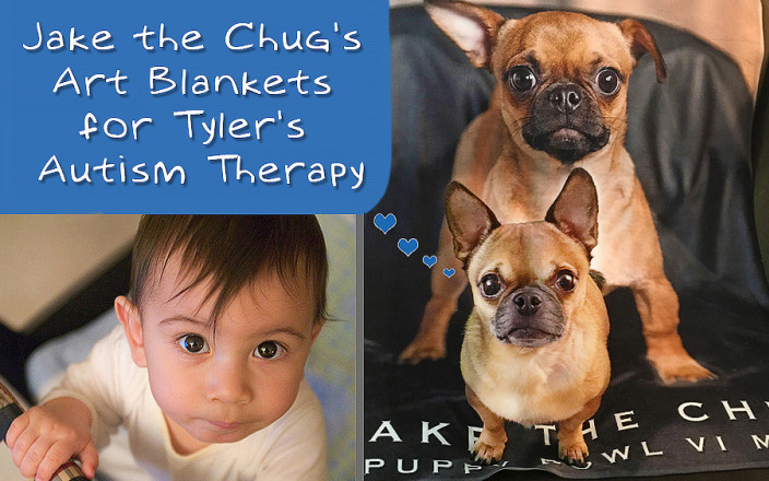 Jake the Chug's Art Blankets for Tyler's Therapy