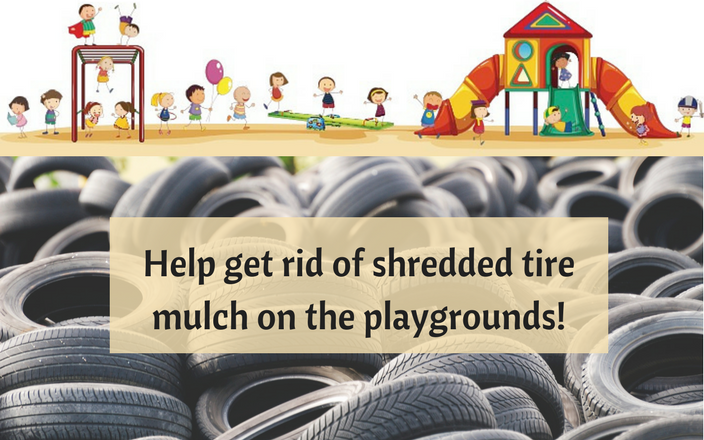 Replace the tire mulch at Duluth Public Schools