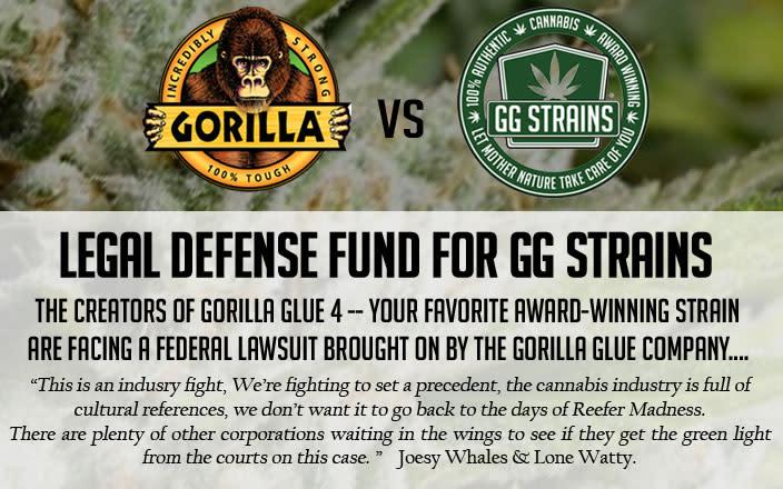 Legal Defense Fund: Gorilla Glue Corp vs Cannabis