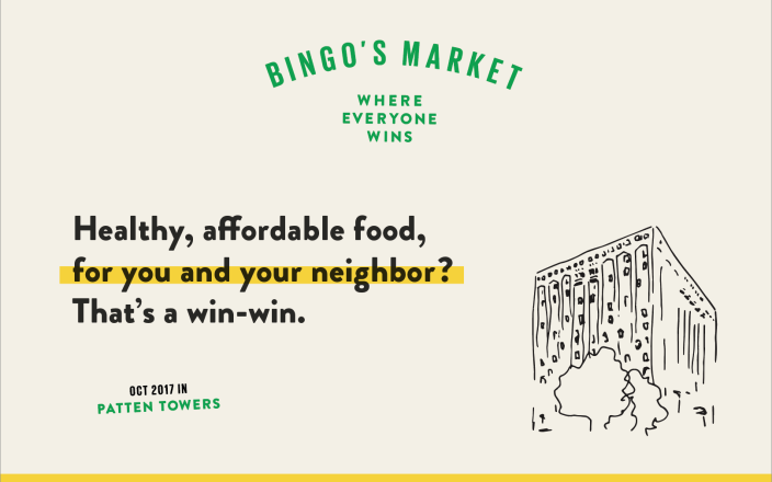Bingo's Market in Patten Towers