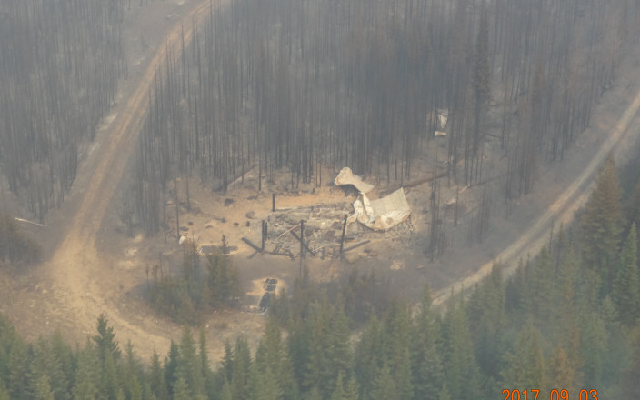 Rebuild Harvey Hut after Wildfire
