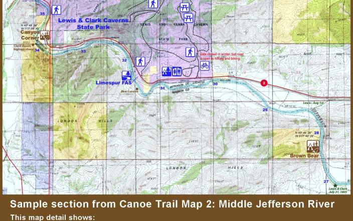 Jefferson River Canoe Trail Maps