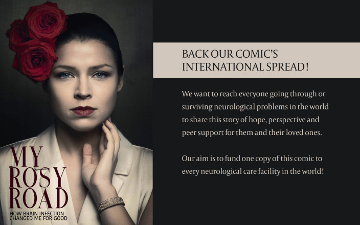 Back our comic's international reach to hospitals