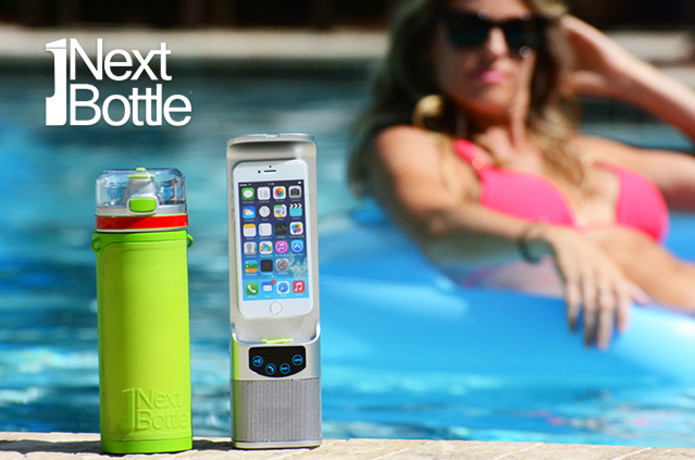 Next Bottle: water bottle with charger and speaker | Indiegogo